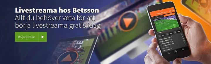 Betsson livestreamar sport i datorn och mobilen helt gratis