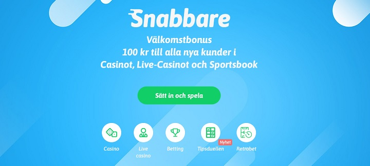 100 kr gratis hos Snabbare